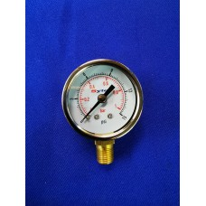 Bike Carburettor Fuel Pressure Gauge 0-1 Bar, Sytec  (Glycerine Filled)
