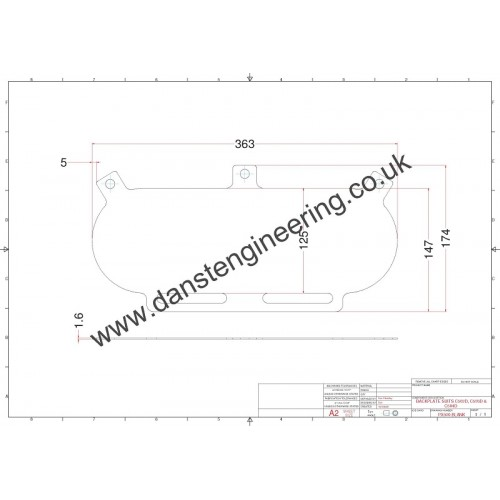 pipercross px500 air filter blank baseplate