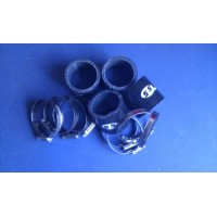 Silicone Hose 50mm Fitting Kit for Bike Carbs or Throttle Bodies BLACK