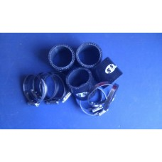 Silicone Hose 45mm Fitting Kit for Bike Carbs or Throttle Bodies BLACK