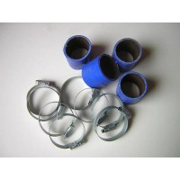 Silicone Hose 48mm Fitting Kit for Bike Carbs or Throttle Bodies BLUE