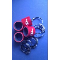Silicone Hose 48mm Fitting Kit for Bike Carbs or Throttle Bodies RED