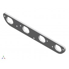 944 S2 Inlet Manifold Flange Plate ALUMINIUM