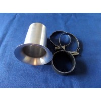 Velocity Stack Trumpet, 40mm Dia, 90mm Long, Universal Fitment with Joining Cuff