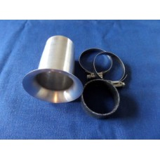 Velocity Stack Trumpet, 40mm Dia, 50mm Long, Universal Fitment with Joining Cuff